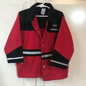 GAP red and black coat
